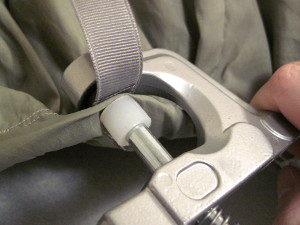 Use the KAM snap pliers to affix the socket.